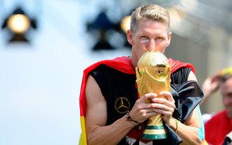 A német válogatott köszöntése Berlinben
