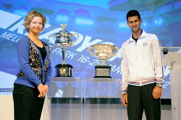 Kim Clijsters és Novak Djokovics is jelen volt a 2012-es torna sorsolásánál
