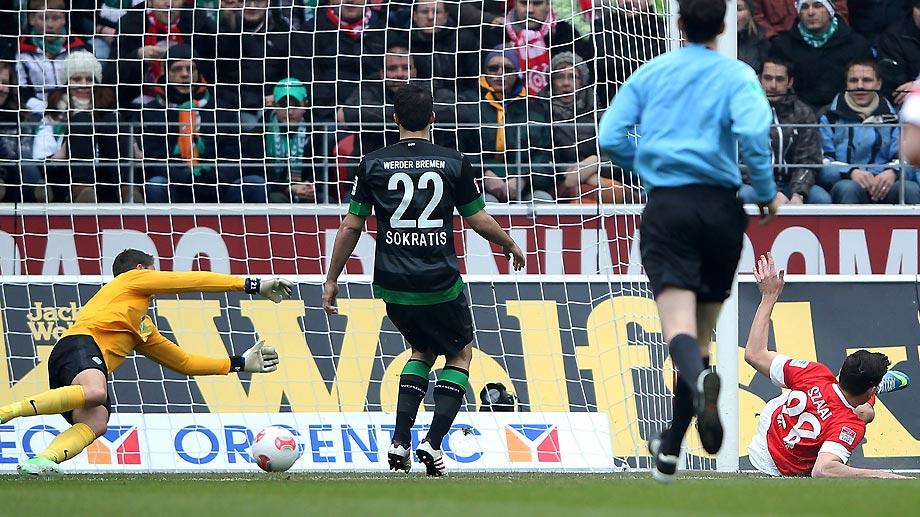 Szalai a kezdés után 12 másodperccel talált be a Mainz-Werder Bremen találkozón
