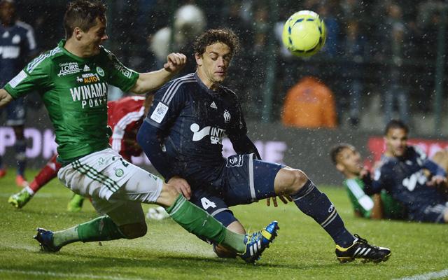 Esős csatát nyert meg a Saint-Étienne, ami még BL-indulást is érhet - Fotó: AFP