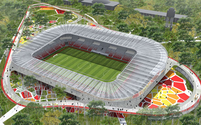 Rövidesen már az új Nagyerdei Stadionban fogadhatja ellenfeleit a Loki - Fotó: debmedia.hu