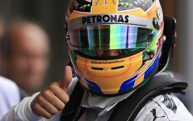 Hamilton egyelőre elégedett lehet - fotó: AFP