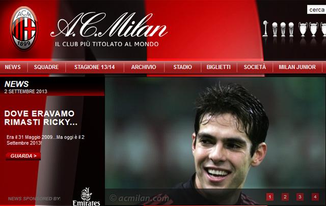 Kaká ismét a Milannál folytatja