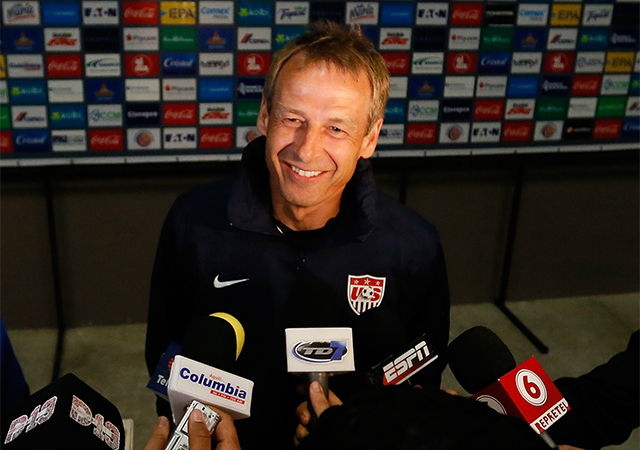 Klinsmann fürdik a sikerben, az USA soha nem volt ilyen eredményes / AFP