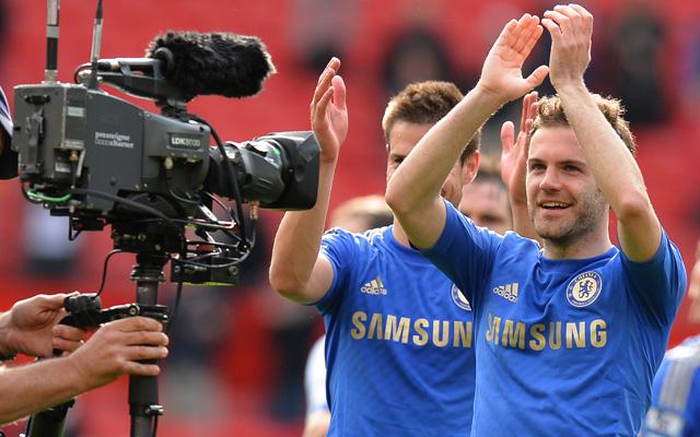Mata boldog a Chelsea-nél - Fotó: AFP