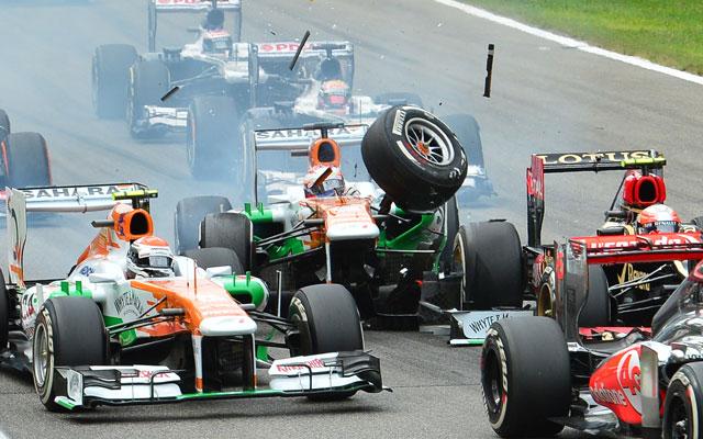 Di Resta versenye gyorsan véget ért - Fotó: AFP