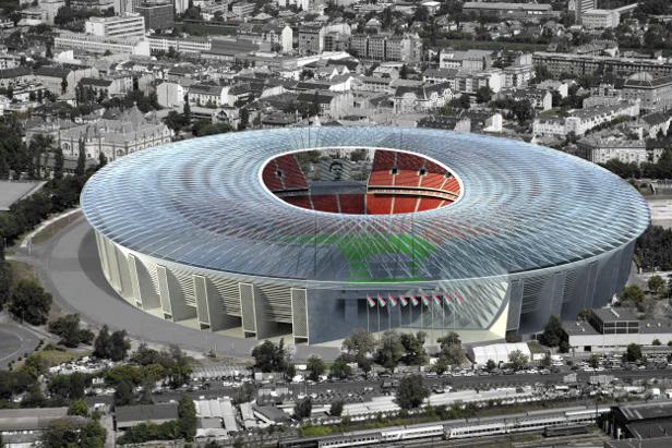 Ilyen lehet az új Puskás Stadion, amelyben Eb-meccseket is rendezhetnek - Fotó: Heti Válasz