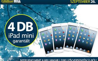 Játsssz a William Hillen, és nyerj iPad Minit!