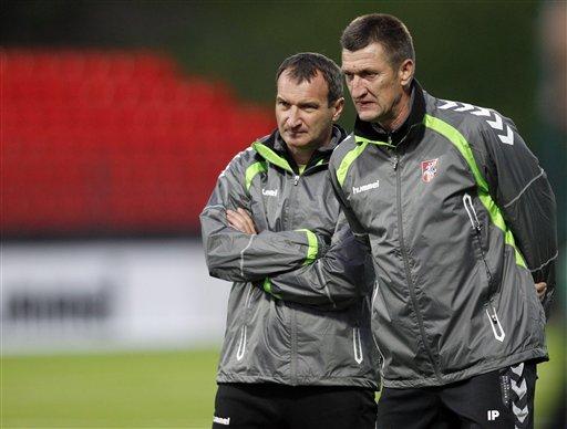 László Csaba (balra) már nem a litván válogatott szövetségi kapitánya