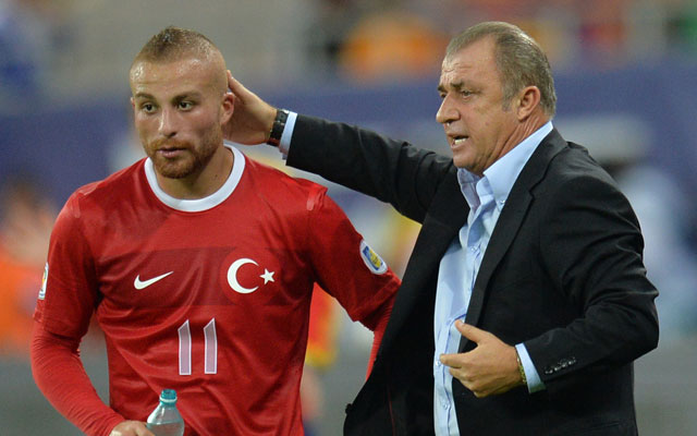 Fatih Terim büszke játékosaira - Fotó: AFP