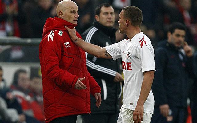 Podolski és Solbakken nem lettek barátok - Fotó: telegraph.co.uk