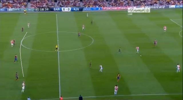 Nem mondhatni, hogy ekkor még annyira mélyen védekezett volna a Barcelona...