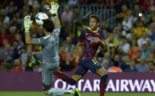 Neymar gólt lőtt és gólpasszt adott, Bravo nem bírt a brazillal - fotó: AFP