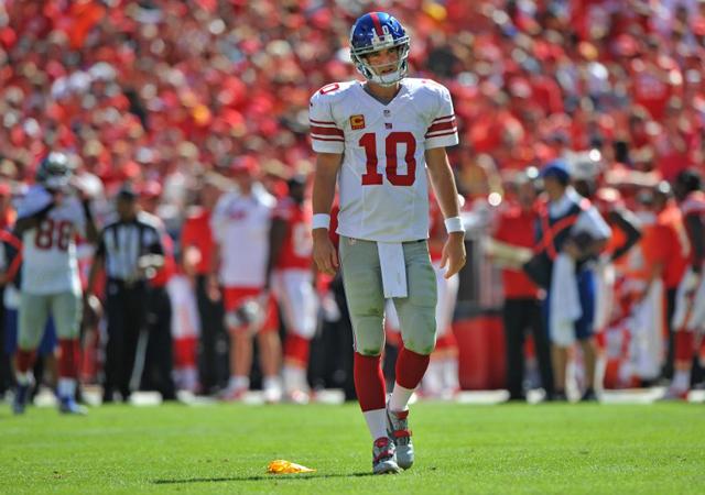 Nem véletlenül néz elkeseredetten Eli Manning: semmi sem sikerül a Giantsnek idén / AFP