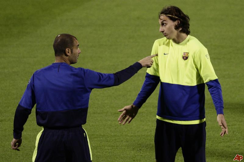Guardiola és Ibrahimovic finoman szólva sem voltak jó viszonyban