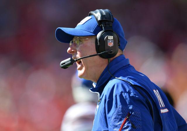 Érzi a vesztét Tom Coughlin: ez nem a Giants idénye / AFP