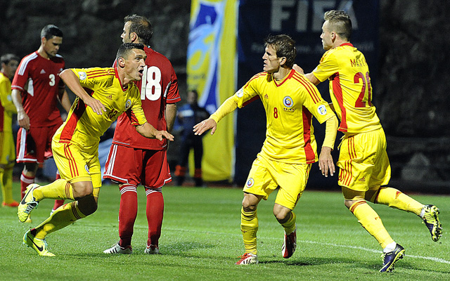 Romániának a gyengécske észteket kell legyőznie - Fotó: AFP
