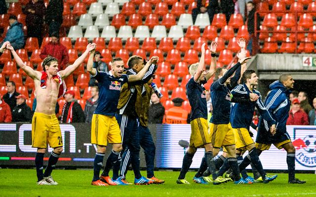 Salzburgi öröm, négy meccs, négy győzelem és továbbjutás - fotó: AFP