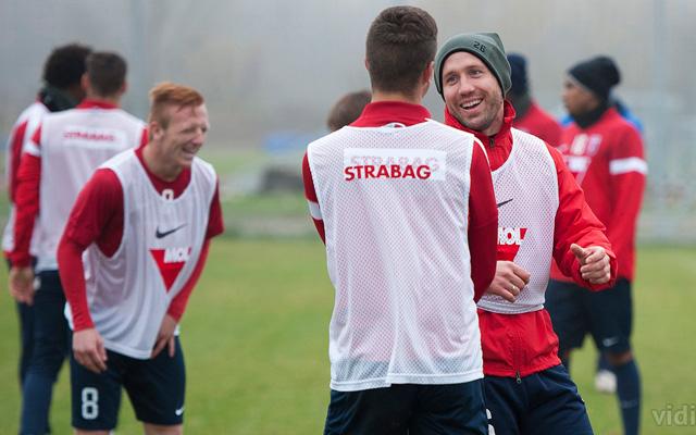 Jó a hangulat a Videotonnál, pedig a bajnokságban döcögősen szerepel a csapat - Fotó: vidi.hu