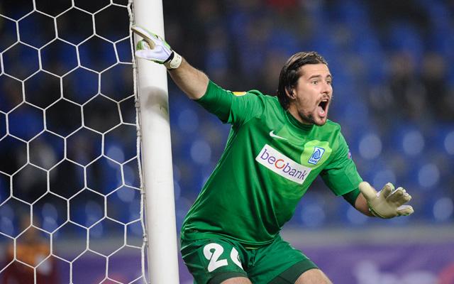 Köteles csak egy gólt kapott a Dinam Kijevtől - fotó: AFP