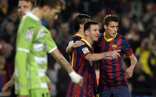 Lionel Messi visszatért és duplázott, a Barcelona a negyeddöntő kapujában - Fotó: AFP