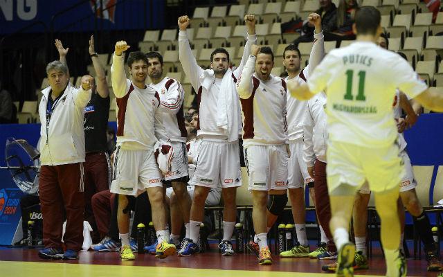 Megnyugtató volt a macedónok elleni győzelem. MTI Fotó: Kovács Tamás