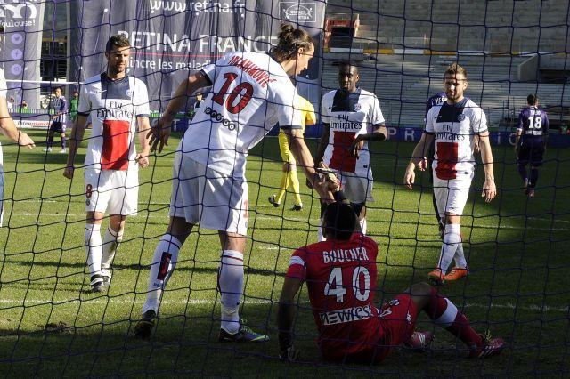 Ibrahimovic mesterhármast lőtt Toulouse-ban - fotó: AFP