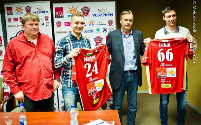 Marguc a 24-es, Lékai a jól megszokott 66-os mezben szerepel majd Veszprémben - Fotó: vehirsport.hu (Melczer Zsolt)