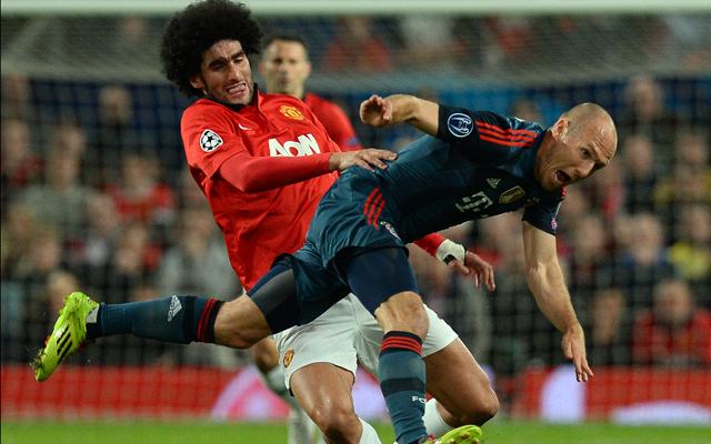 Nem kímélték egymást a csapatok az Old Traffordon - Fotó: AFP