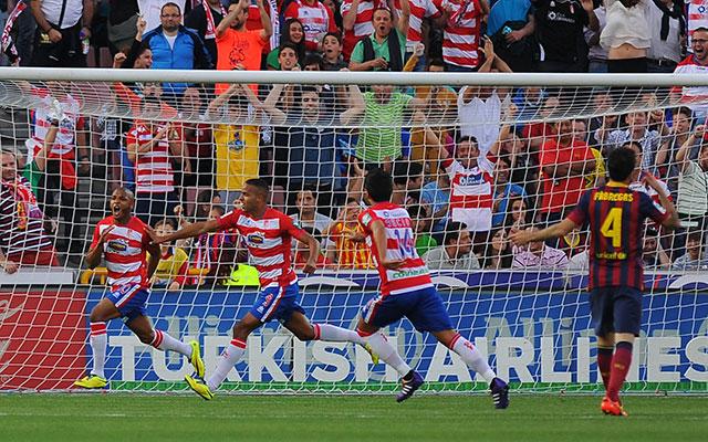 A Granada Brahimi góljával verte a Barcelonát - fotó: AFP