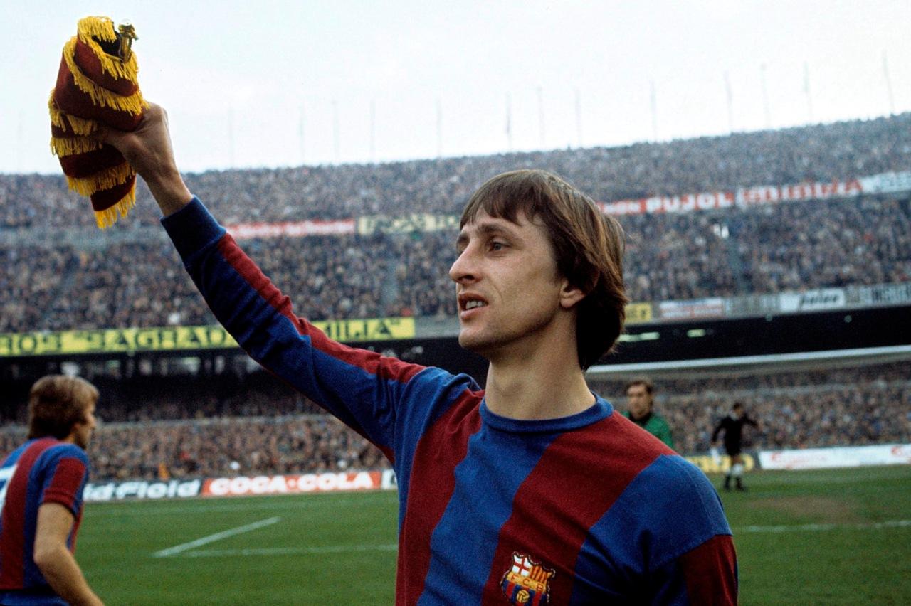 Johan Cruyff játékosként, majd később edzőként is megnyerte a Király Kupát a Barcával