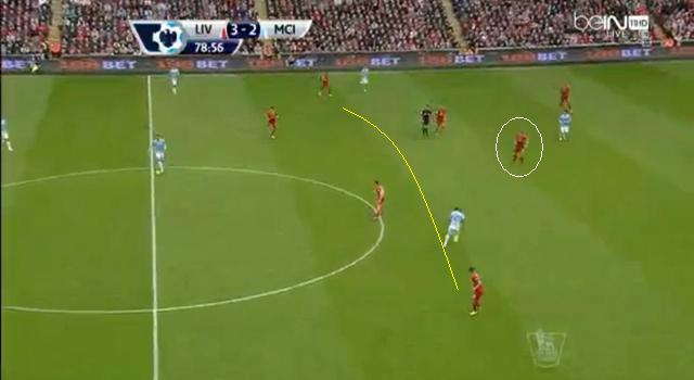 Sturridge sérülése után 4-1-4-1-re állt át a Liverpool, így jobban kezdtek el védekezni a széleken