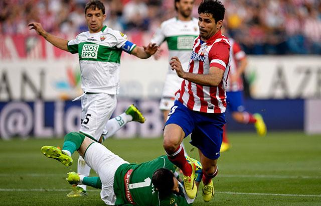 Diego Costa ezúttal tizenegyesből talált a hálóba - fotó: AFP