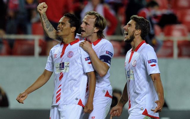Egy szabályos és egy szabálytalan gólt szerzett a Sevilla - Fotó: AFP