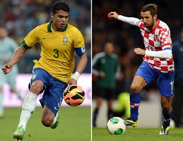 A brazil és a horvát részről is kulcsszerep hárul majd a védőkre / AFP