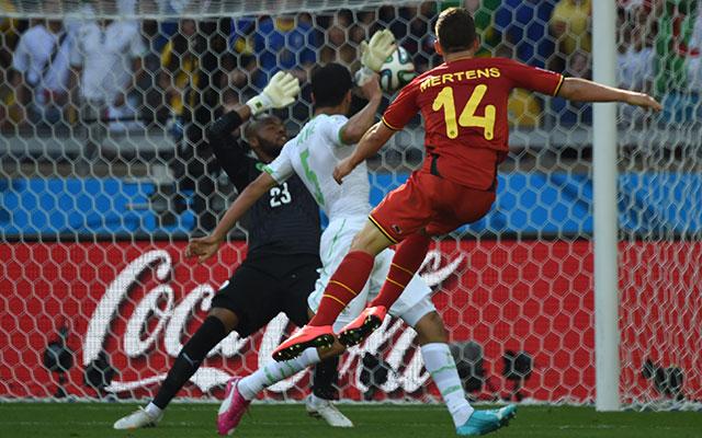 Mertens győztes gólja - fotó: AFP