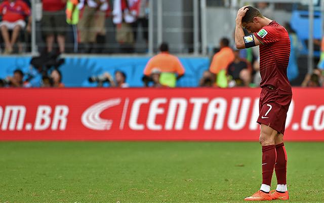 Ronaldo nem tudott segíteni övéin - Fotó: AFP