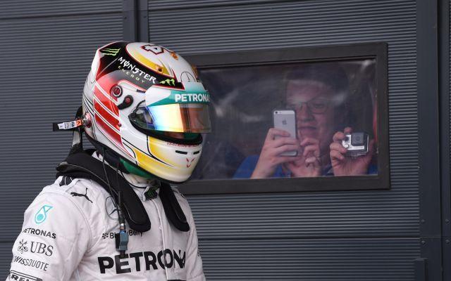 Hamilton karrierje során másodszor nyert Silverstone-ban - fotó: AFP