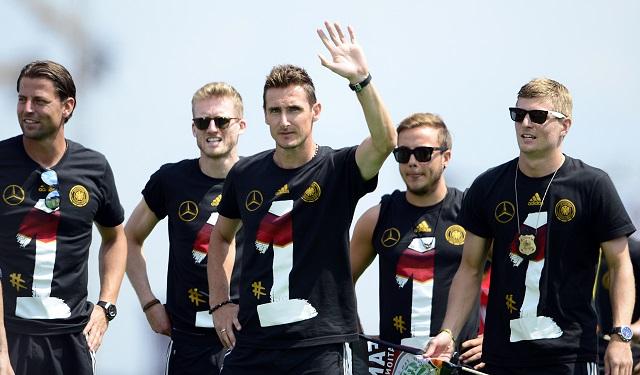 Klose és társai előadását nem díjazta mindenki / AFP