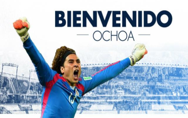 Ochoa vidám arca köszöntö a Málaga honlapjára látogatókat - Fotó: malagacf.com