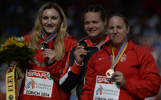 Márton Anita országos csúccsal bronzérmes Zürichben