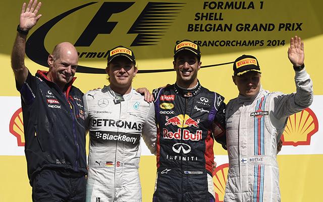 Ricciardo Mogyoród után Spában is nyert - Fotó: AFP