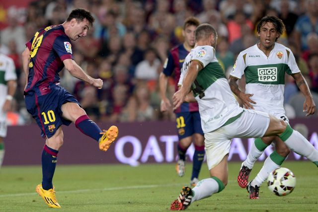 Messi két góllal kezdte a szezont - fotó: AFP