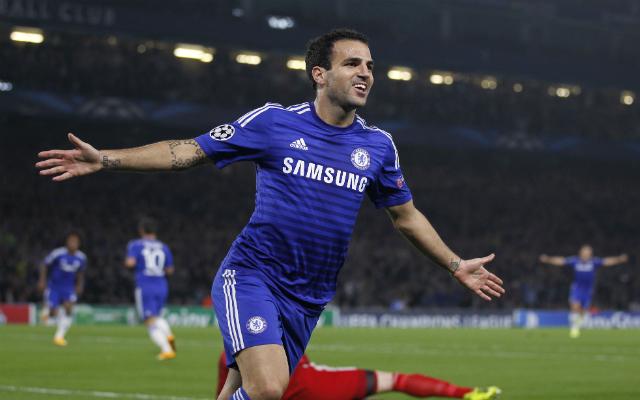 Fábregas góljával még az angolok vezettek - Fotó: AFP