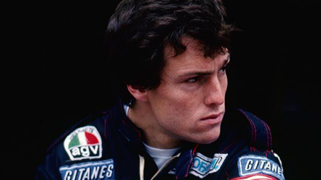 Andrea de Cesaris 1984-ben a Ligier-Renault pilótájaként. Fotó: bandeiraverde.com.br