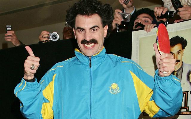 Borat már a meccsre készül? Akkor lesz ám nemulass! - Fotó: thedailybeast.com