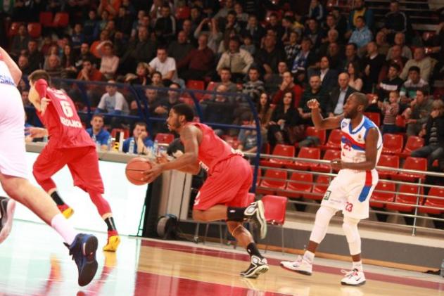 A Szolnok zsinórban harmadjára is legyőzni hazai pályán az MZT Szkopjét. - Fotó: abaliga.com