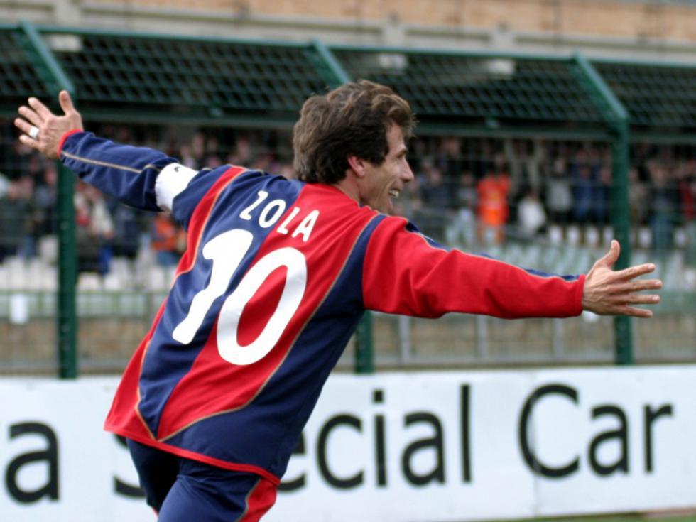 Amikor Zola még játékosként dolgozott a Cagliarinál