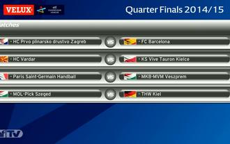 Szeged-Kiel és PSG-Veszprém a BL-negyeddöntőben
