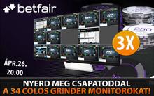 Nyerj félmillió forint összértékű csúcs monitorokat a Betfair Pokeren!